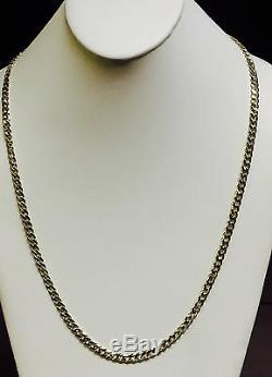 10KT Solid Yellow Gold Miami Cuban Curb Link 22 5.3 mm 37 grams chain/Necklace