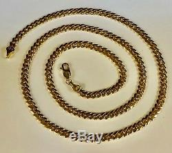 10KT Solid Yellow Gold Miami Cuban Curb Link 24 5.3mm 40 grm chain/Necklace