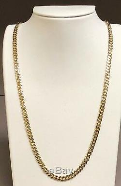 10KT Solid Yellow Gold Miami Cuban Curb Link 26 5.3 mm 44 grams chain/Necklace