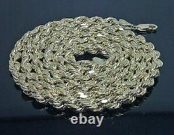 10K Gold Chain For Men Real Yellow Gold Rope 5mm, 22 Inch Diamond cuts, Cuban