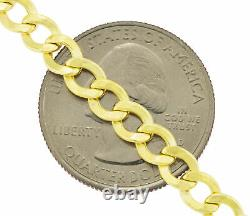 10K REAL Yellow Gold 5.5mm Fine Curb Cuban Chain Link Necklace Lobster Clasp 22