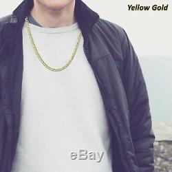 10K Real Yellow Gold Cuban Curb Link Chain Necklace 2MM Mens Women's 16 24