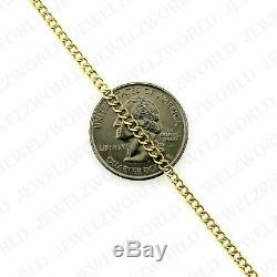 10K Solid Yellow Gold Cuban Curb Link Chain Necklace 2.5MM 16 18 20 22 24