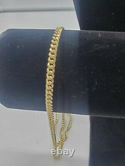 10K Yellow Gold 4mm Cuban Link 19in Chain Necklace