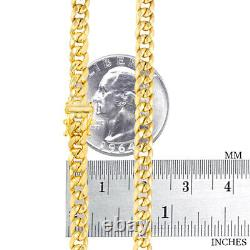 10K Yellow Gold 5mm Real Miami Cuban Link Chain Pendant Necklace Box Clasp 18