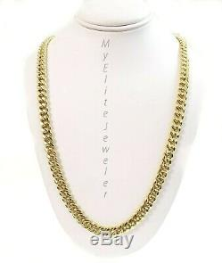 10K Yellow Gold 6mm Miami Cuban Chain 24Inch Link Necklace Box Lock Strong Link