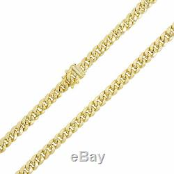 10K Yellow Gold 6mm Real Miami Cuban Link Chain Pendant Necklace Box Clasp 18