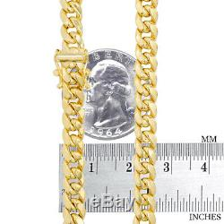 10K Yellow Gold 6mm Real Miami Cuban Link Chain Pendant Necklace Box Clasp 22