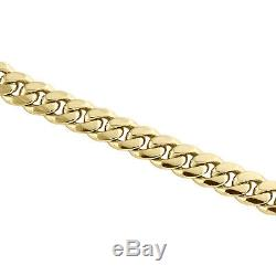 10K Yellow Gold 6mm Solid Miami Cuban Link Chain Box Clasp Necklace 22-30 Inch
