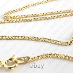 10K Yellow Gold Cuban Link Curb Chain Necklace 16 18 20 22 24 26 30 1.5mm