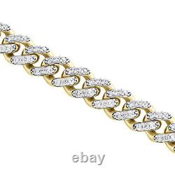 10K Yellow Gold Hollow 11mm Miami Cuban Chain Cubic Zirconia CZ Necklace 20-26