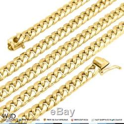 10K Yellow Gold Hollow 6mm Miami Cuban Chain Necklace 24