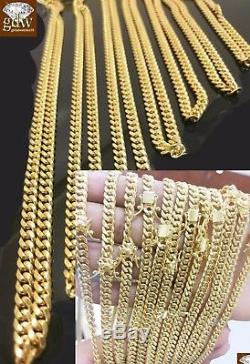 10K Yellow Gold Men's 6mm Miami Cuban Chain With Box Lock 24 inch long