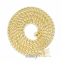 10K Yellow Gold Mens 6mm Real Miami Cuban Link Chain Bracelet Box Clasp 7.5- 9