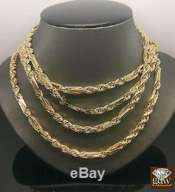 10K Yellow Gold Milano Rope Chain 24 Inches 6 mm, Palm, Franco, Miami Cuban