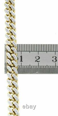 10K Yellow Gold Over Diamond Miami Cuban Chain 6.50mm 26 Necklace 2.70 Ct