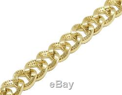 10K Yellow Gold Real Diamond 10MM Miami Cuban Link Choker Necklace 16 3/5 Ct 18