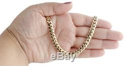 10K Yellow Gold Solid Miami Cuban Link Chain 6.50mm Box Clasp Necklace 20-30 In