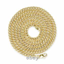 10K Yellow Gold Womens 4mm Real Miami Cuban Link Chain Bracelet Lobster Clasp 7