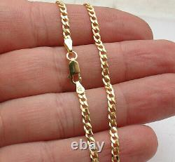 10 Italian Solid Curb Cuban Ankle Bracelet Anklet 14K Yellow Gold Clad Silver