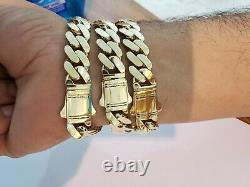 10k Gold Bracelet 12mm 9 Royal Miami Cuban Link Strong, Real 10kt Yellow Gold