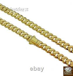 10k Gold Chain for Men/Women Miami Cuban Royal Link 18 inch 9mm Solid Real Gold