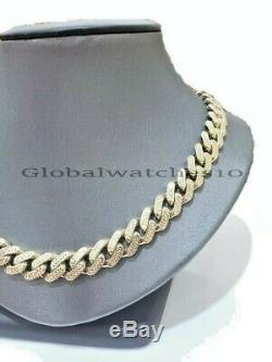 10k Gold Mens Miami Cuban Necklace 11MM Diamond Cut Royal Link Chain 24Inch REAL
