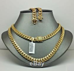 10k Real Yellow Gold Miami Cuban Link Chain 3 MM Necklace Lobster