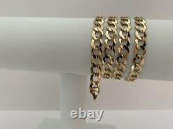 10k Solid Comfort Gold Concave Cuban Curb Link Chain 26-8 mm-36.4Gr-AG10C23Y