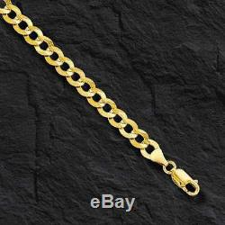 10k Solid Gold Comfort Concave Cuban Curb Link Chain Necklace 22 7mm 22 grams