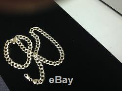 10k Solid Gold Comfort Concave Cuban Curb Link Chain Necklace 24 7mm 25 grams