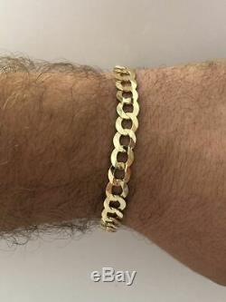 10k Solid Yellow Gold 8mm Wide Cuban Link Men's Bracelet 8.5'' 11.4 Grams Thick