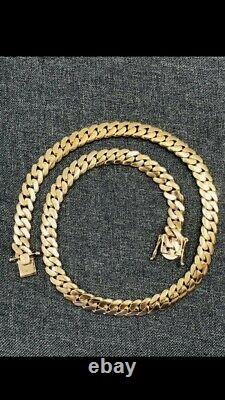 10k Yellow Authentic Solid Gold Miami Cuban Link Chain 26 10mm 200 Grams