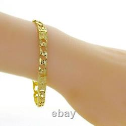 10k Yellow Gold Cuban Link Chain Nugget Bracelet 9 6.75mm 12.7 grams