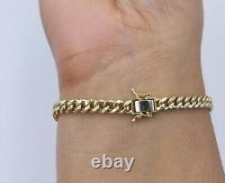 10k Yellow Gold Miami Cuban Bracelet Real Gold 5mm Link 8 inch Box Clasp Lock
