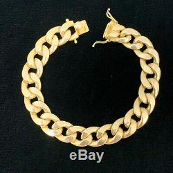 10k Yellow Gold Miami Cuban Link 13mm Bracelet Hollow Curb 8.5 Box Clasp 10kt
