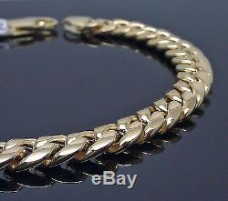 10k Yellow Gold Miami Cuban Link Bracelet 6mm 8 inch, For Men/Women, Franco, Rope