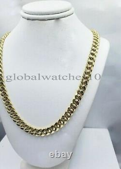 10k Yellow Gold Necklace 8mm 30 Miami Cuban Link Chain Box Lock REAL 10kt Oro