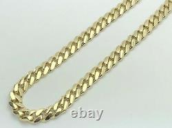 10k Yellow Gold Solid Heavy Miami Cuban Chain Necklace 20 10.4mm 122 grams