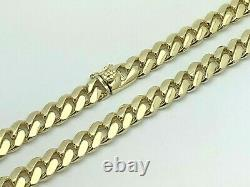 10k Yellow Gold Solid Heavy Miami Cuban Chain Necklace 20 10.4mm 130 grams