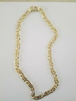 10k solid italy gold mens chain 10mm 65 grams 23 long