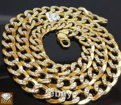 10mm 26 Real 10k Gold Cuban Curb Link Chain Diamond Cut 10kYellow Gold Necklace
