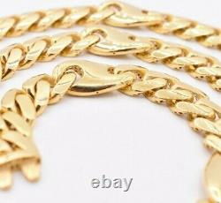 11mm Mens Miami Cuban Mariner Link Chain Necklace Box Clasp Real 10K Yellow Gold