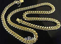 14K Miami Cuban Link Chain Solid Gold, 22 6.9 MM 80.1 Grams Heavy Necklace Men