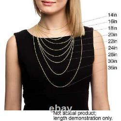 14K Solid Yellow Gold Cuban Link Chain Necklace 20 Men's Women Sizes