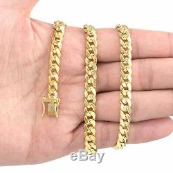 14K Yellow Gold 3mm-14.5mm Real Miami Cuban Link Necklace Chain Bracelet, 7-30