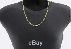 14K Yellow Gold 4.5mm Italian Curb Cuban Chain Link Necklace Mens Womens 18-30