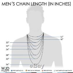 14K Yellow Gold 4mm Hollow Diamond Cut Cuban Curb Link Chain Necklace 24