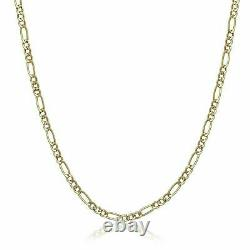 14K Yellow Gold Chain Necklace Box, Rope, Cuban, Figaro 16 18 20 22 24 30'