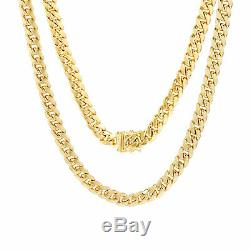 14K Yellow Gold Womens 6.5mm Miami Cuban Link Chain Bracelet Safety Box Clasp 7